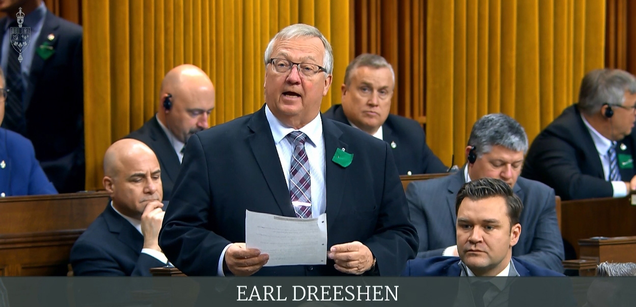 MP Dreeshen makes a Statement highlighting challenges facing the agriculture industry - including government created problems like the Carbon Tax
